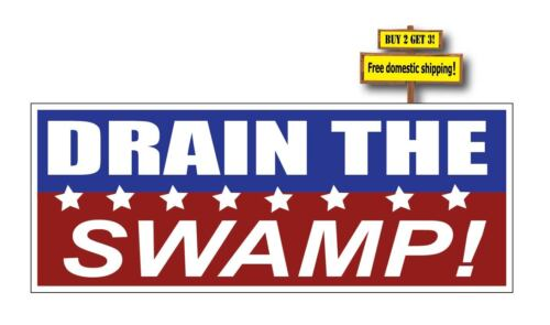 DRAIN THE SWAMP Donald Trump President USA 2016 Decal//Sticker Clean up DC