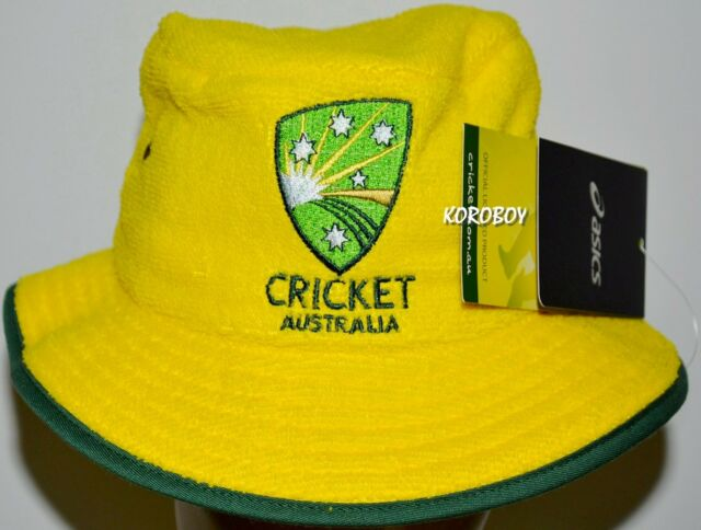 BNWT - Cricket Australia Bucket Hat Towel Cap ASICS 367ac5917b00