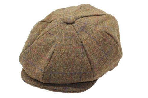 Newsboy Bakerboy Style Flat Cap Mens Boys Classic 8 Panels Hat
