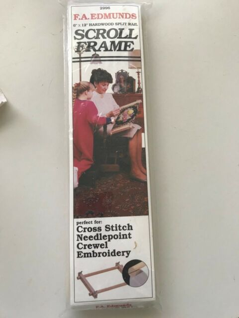 Fa Edmunds Split Rail Scroll Frame 6 X 12 Cross Stitch Needlepoint