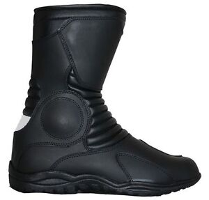 New-Motorcycle-Waterproof-Cow-Hide-Leather-Motorbike-Riding-Touring-Boot