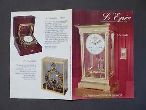 Ehrlichkeit Prospekt L ´epée, Manufacture D´horlogerie, Mantel Clock, , Von 1995