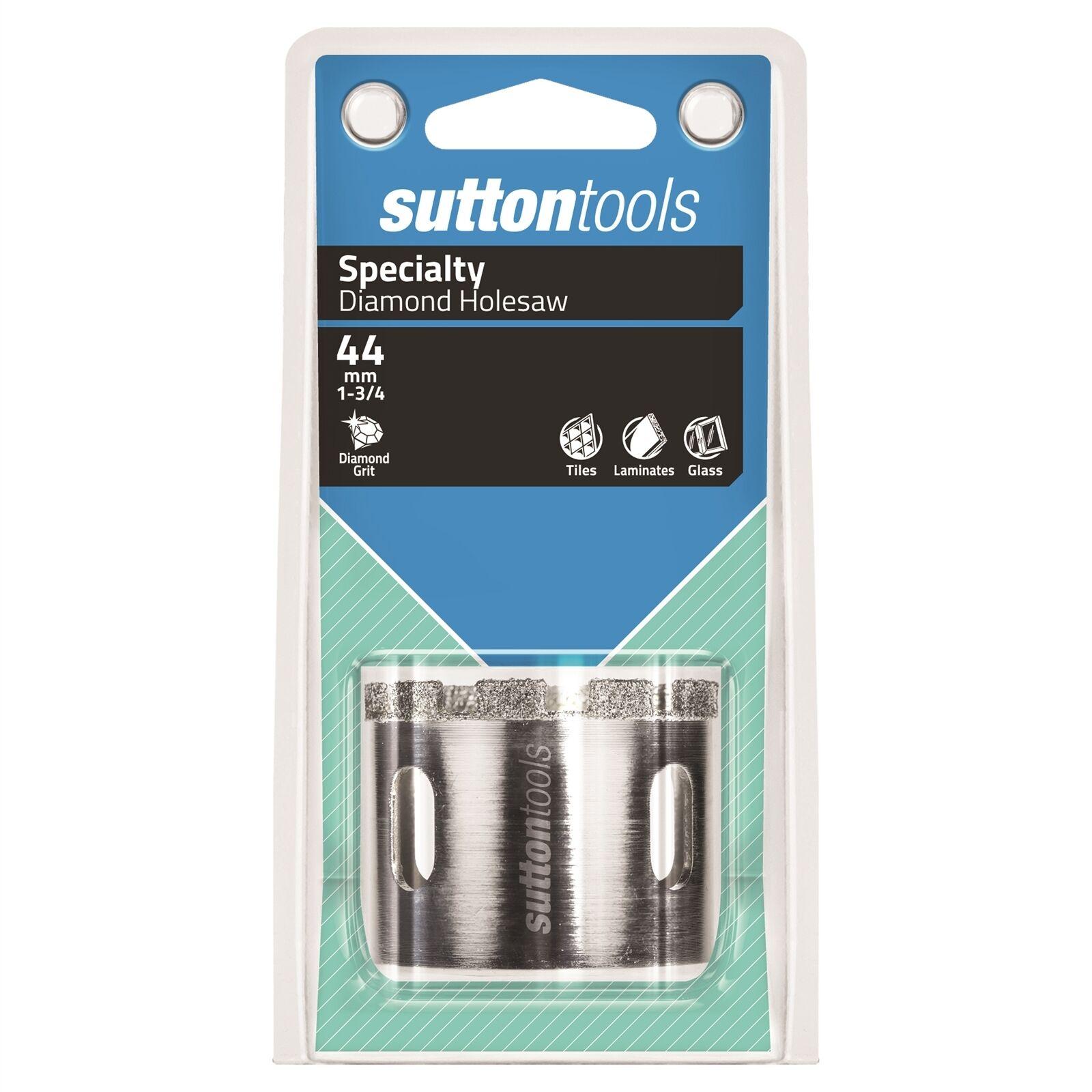 Sutton Tools DIAMOND GRIT HOLESAW Cut-Out SlotsAustralian Brand- 44, 51 Or 54mm