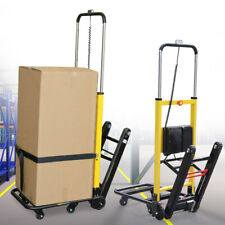 Stair Climbing Folding Electric Hand Truck Cart Dolly 6 Wheels 440lbmax Load