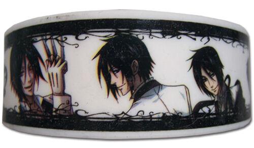 **Legit** Black Butler Four Types of Sebastian Authentic PVC Wristband #54210