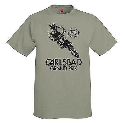 New Vintage Style Carlsbad GP Motocross T-Shirt Shirt MX Motorcycle Maico CZ