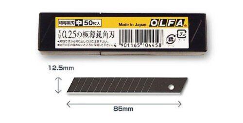 OLFA Lames de rechange MBB50K Tokusen Noir Standard Duty 50 12.5 mm