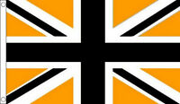 BLACK and GOLD UNION JACK FLAG 5' x 3' Flags