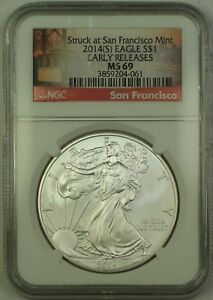2014-S-American-Silver-Eagle-1-Coin-ASE-NGC-MS-69-NEAR-PERFECT-GEM
