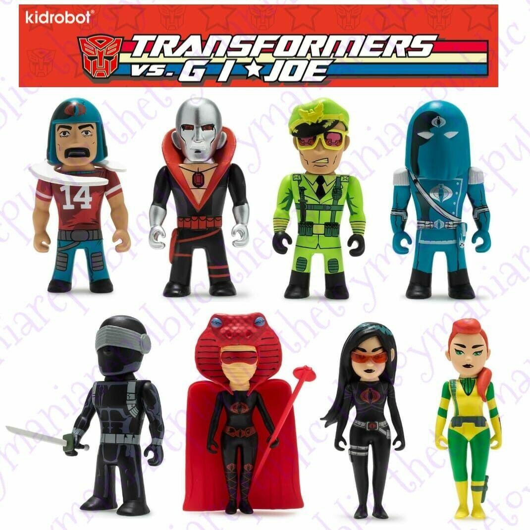 Conjunto de 8-Kidrobot Transformers vs Gi Joe Figura De Serie Mini-Gi Joe Figura Set