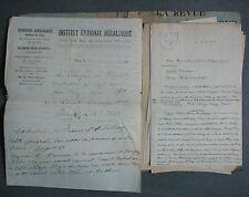 LANET. Etude sur le Nom de famille Lanet, Lanay, Lasnay, Lannet. Ecrit main.