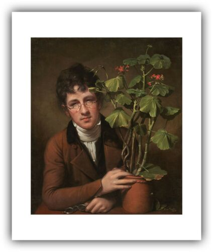 """— Giclee Fine Art Print Rembrandt Peale /""""Rubens Peale with a Geranium/"""" 1801"""