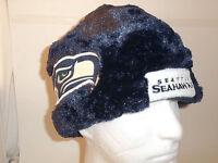 Seattle Seahawks Nfl Helmet Beanie Hat Winter Plush Tailgate Party Forever