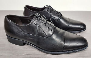 54207555a1d Monte Rosso Lazio Cap Toe Oxford Black Soft Leather Mens Size 8.5 M ...