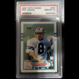 Troy-Aikman-1989-Topps-Rookie-Card-PSA-10