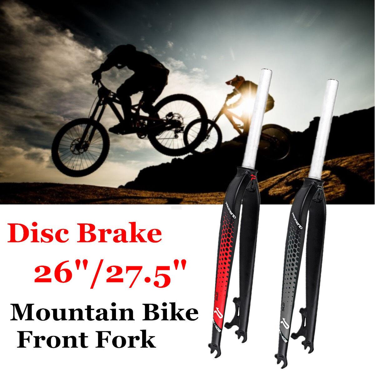 26'' 27'' MTB Mountain Bike Disc Brake Bicycle Front Fork Aluminum Alloy