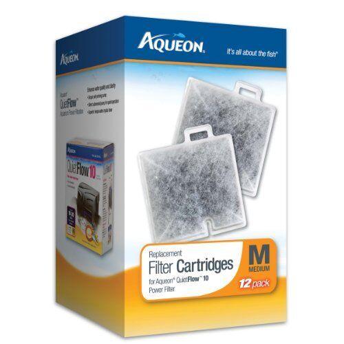 Aqueon Filter Cartridge Replacement QuiteFlow 10 Fish Aquarium Medium 12-Pack