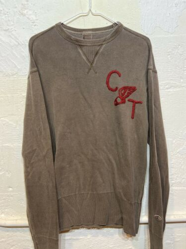 VTG Champion Crewneck/Sweatshirt Brown/Beige/red A