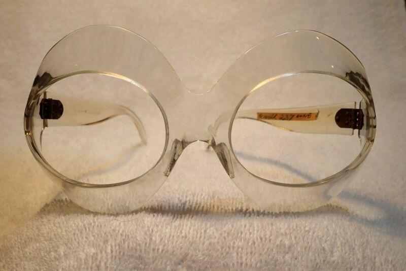 """1975 Riesig """" Bug """" Brille Rahmen !neu Mit Etikett Scarce! Handgemacht In GläNzend"""