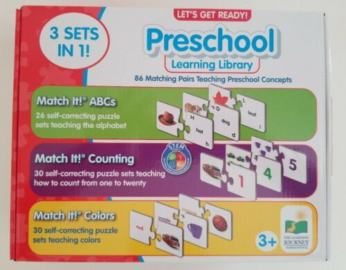 PRESCHOOL LEARNING LIBRARY 3 SETS IN 1 THE LEARNING JOURNEY LET/'S GET READY!