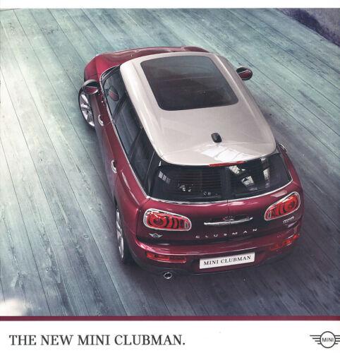 2016 Mini Cooper Clubman and S Original Car Sales Brochure Catalog