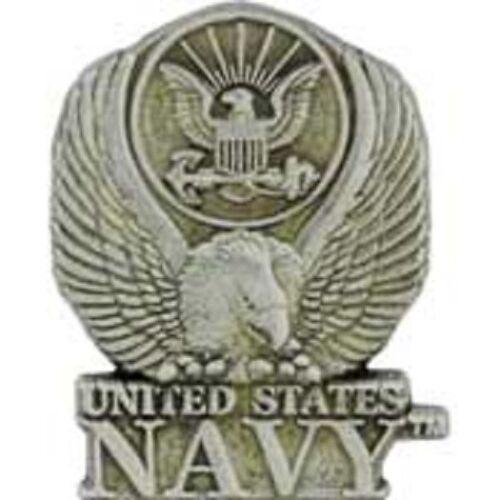 """1/"""" PIN US Navy LOGO,PEWTER"""