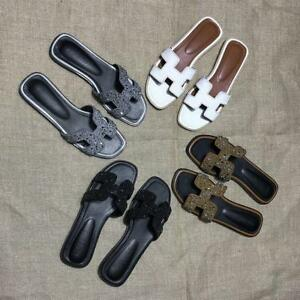 Summer-Womens-Synthetic-Leather-Mules-Slippers-Slingback-Shoes-Slip-on-Fashion