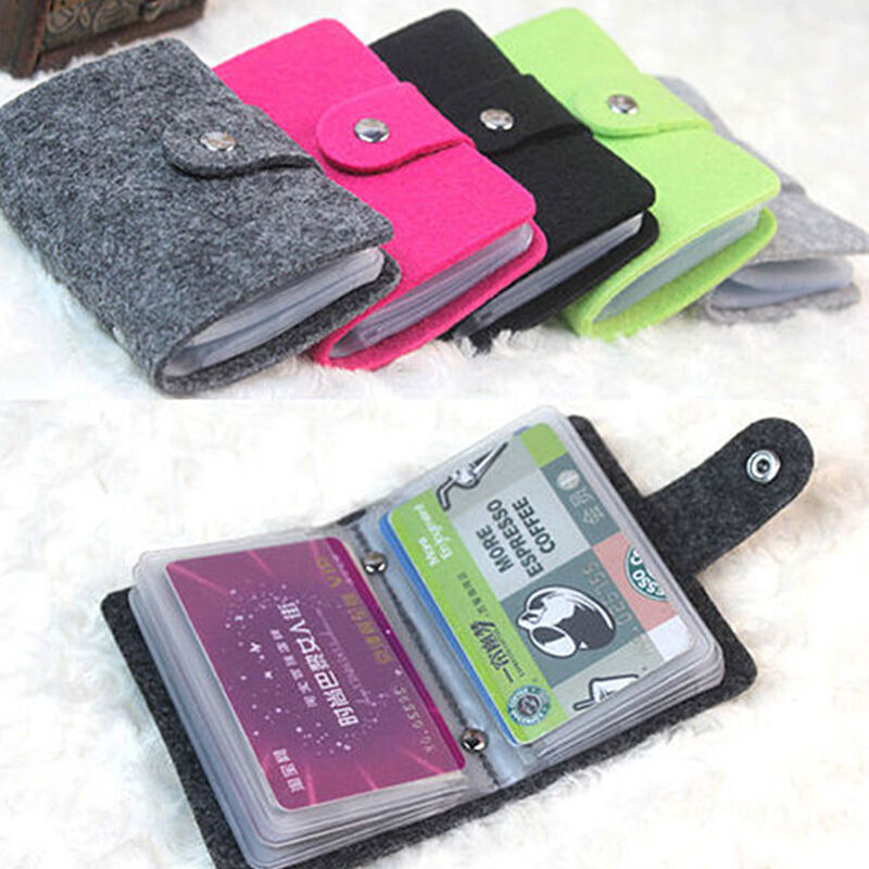 Men Women Business Cards ID Bank Credit Card Holder Pouch Wallet ...