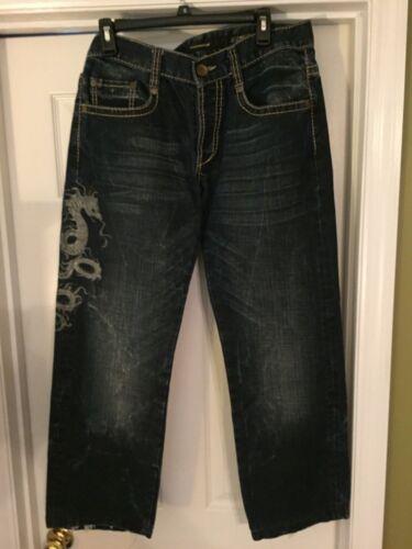 Dragon Jeans à Taille foncé denim Homme Entrejambe rabat 34 28 Mondo en Poches bleu UqUfwzC