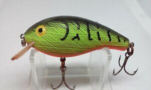 "Vintage Rebel Shallow R Firetiger 2 1/2"" Ratllin Shallow Crankbait Fishing Lure"