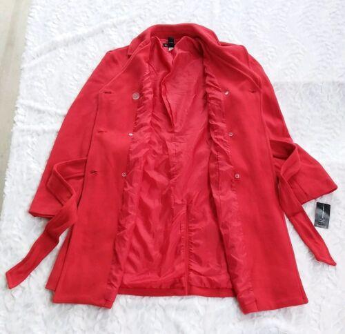 Nwt Manteau Real Red 149 voiture double 50 Concepts de International à Medium 706257119495 boutonnage vqrvS