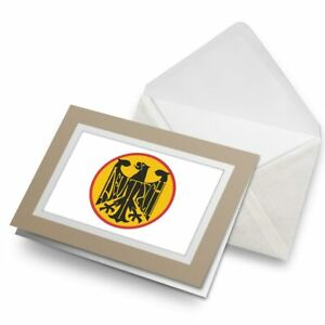Greetings-Card-Biege-Yellow-German-Eagle-Logo-Deutschland-5439