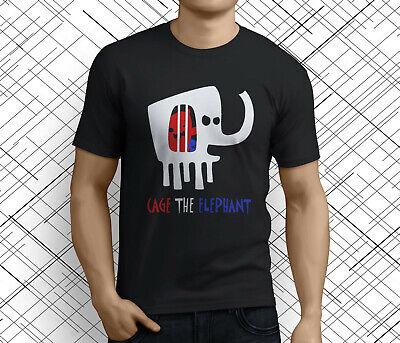 Cage The Elephant Melophobia Logo Men/'s Black T-Shirt Size S M L XL 2XL 3XL
