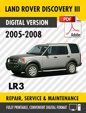 land rover discovery 3 lr3 2005 2006 2007 2008 service manual rh ebay com land rover discovery 3 2005 service repair manual land rover discovery 3 repair manual pdf