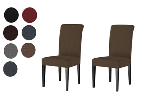 Details about Luxury Stretch Cover Slipcover Seat Protector for Dining Room  Kitchen Chair 2 pc