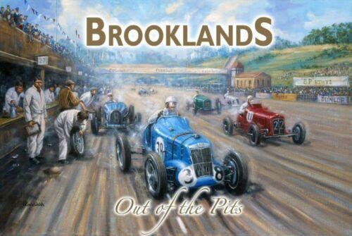 Classic//Vintage F1 Grand Prix Motor Racing Large Metal Tin Sign Brooklands Pits