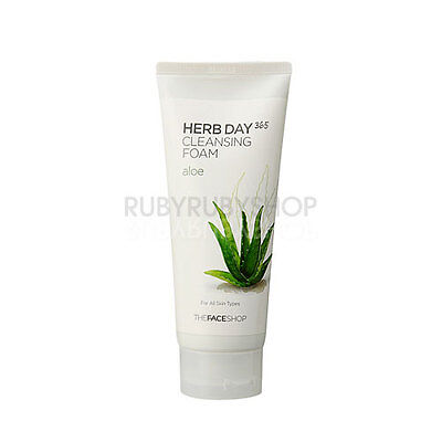 [THE FACE SHOP] Herb Day 365 Cleansing Foam 170ml - #Aloe