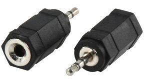 Audio Adapter von 2,5 mm Klinke Stecker auf 3,5 mm Klinke Buchse / Stereo