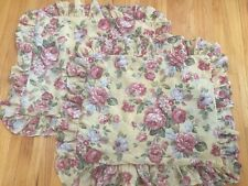 Macy's Home Design French Country Shabby Chic Floral Ruffled Euro Sham Set of 2