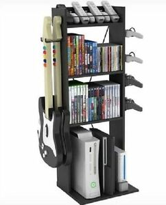 Gaming Storage Unit Rack Stand Wii Xbox Ps3 Ps4 Video