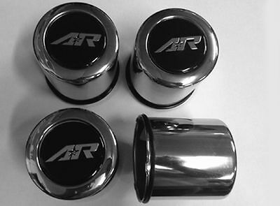 American Racing 1 Wheel Center Cap Steel Chrome 1295002R 2.95 Push Thru AR Logo