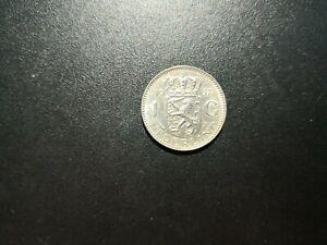 1-Gulden-SILBER-1957-sehr-schoen