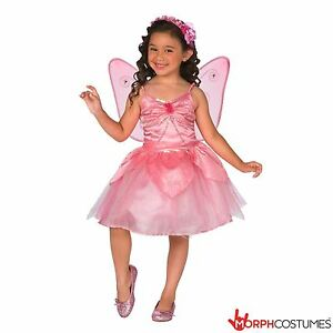 Image is loading Girls-Pink-Fairy-Fancy-Dress-Costume-incl-Wing-  sc 1 st  eBay & Girls Pink Fairy Fancy Dress Costume incl Wing Great for Halloween ...