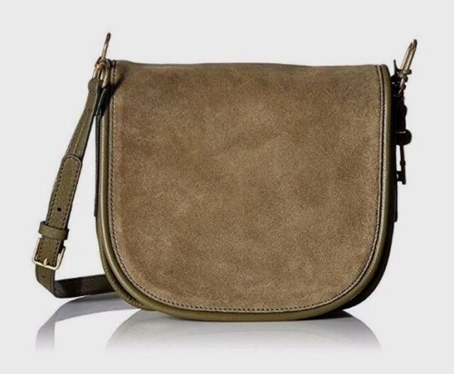 a628b82e6da1 Fossil Rumi Zb7277382 Large Rosemary Suede Leather Flap Crossbody ...