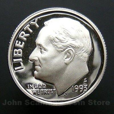 Gem Proof Deep Cameo U.S Coin 1993-S Roosevelt Dime 90/% Silver