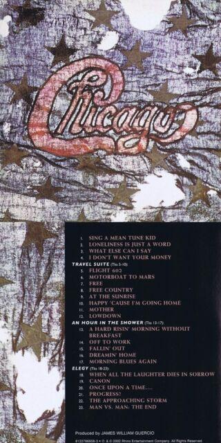 """Chicago """"III"""" Von 1971! 23 Songs! Digital remastered! Rhino-Qualität! Neue CD!"""