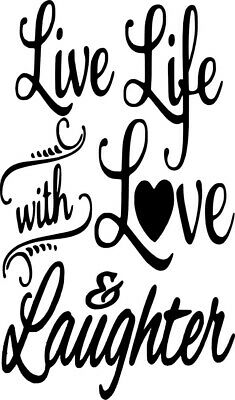 bottle not included Live Life with love and laughter Wine Bottle Decal//Sticker