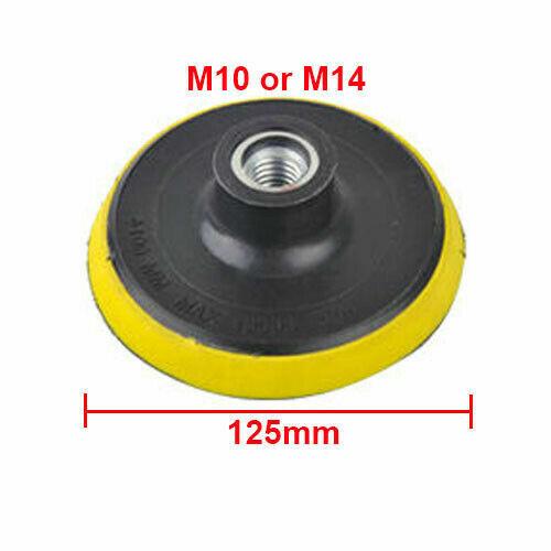 3/'/' 4/'/' 5/'/' 6/'/' 7/'/' Backing Pad Disc Hook And Loop Sander Angle Grinder M10 M14