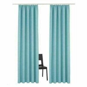 gardinen mit kr uselband vorh nge blickdicht schlafzimmer dekogardinen dekoschal ebay