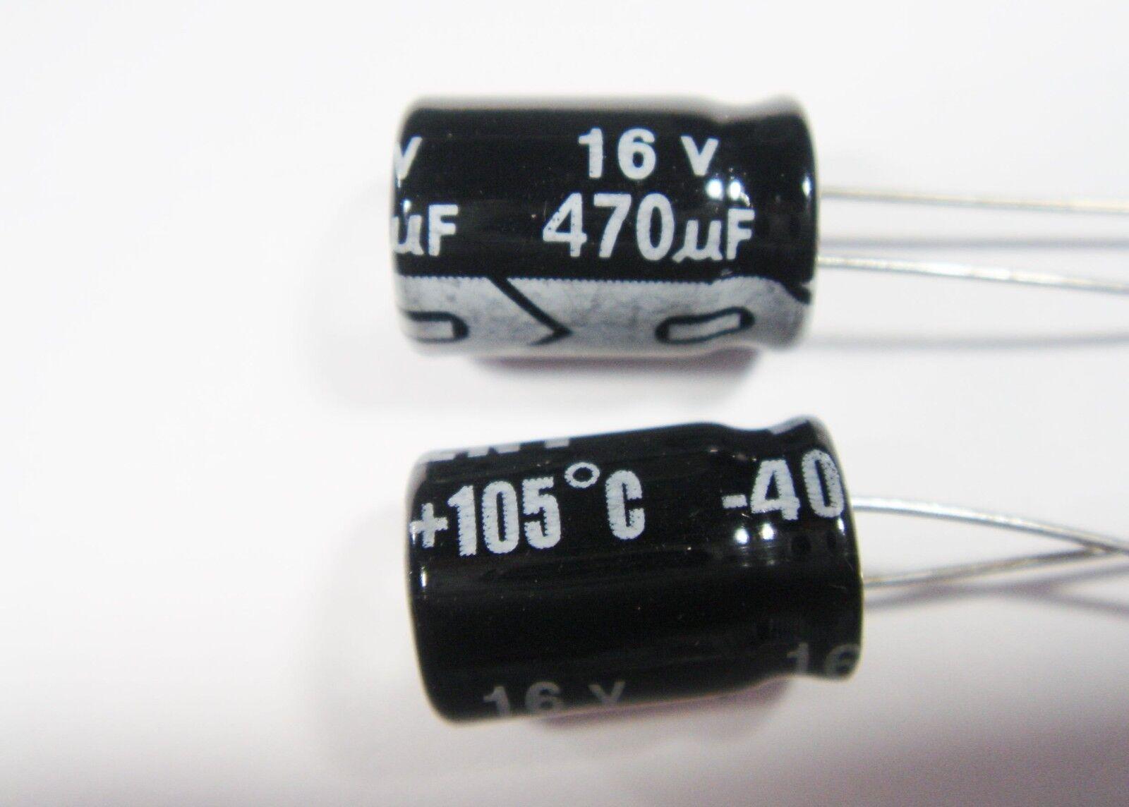 470uf 16v 105°C Furniture Radial %